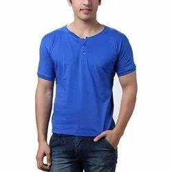 Mens Cotton Casual T Shirt, Size: S, M & L