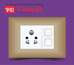 Slim Plate Metallic Electrical Switch
