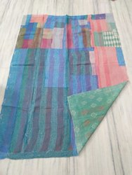 Printed Double Sided Vintage Kantha Quilt
