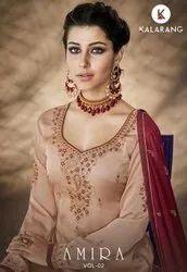 Kalarang Amira Vol-2 Satin Georgette Sharara Style Salwar Kameez Catalog