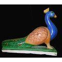 Marble Peacock Figure