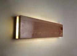 LED Strip Aura Wooden Wall Light (Medium)