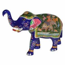Metal Shikar Elephant Statue
