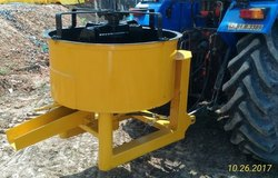 Mild Steel Pan Concrete Mixture on Tractor 500 Kg Output