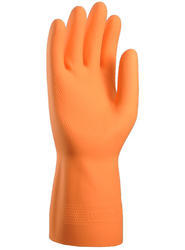 Orange Rubber / Latex Gloves