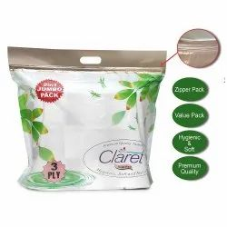 Claret Premium Quality Toilet Paper Roll (3 Ply) 9 In 1 Jumbo Pack