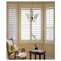 Plain White PVC Window Blind