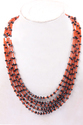 Carnelian & Black Spinel Smooth Necklace