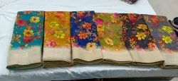 Cotton Formal Wear orchid silk jute, 6 m (with blouse piece)