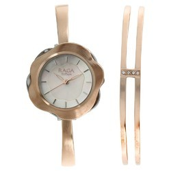 Raga Espana Flor By Titan Mother Of Pearl Dial Analog Watch