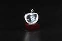 3D-Apple-L Custom Laser Engraved Crystal