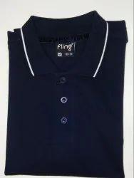 Men's Navy Blue Collar T-Shirt