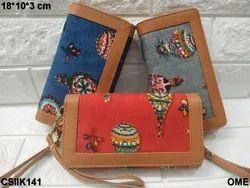 Ikkat Clutch Bag
