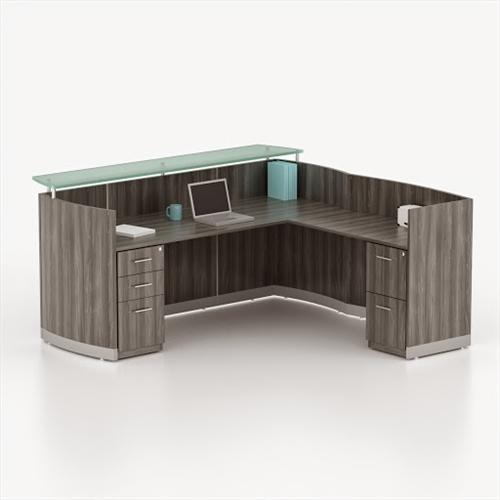 Black And Brown 6 Feet And 8 Feet Reception Table