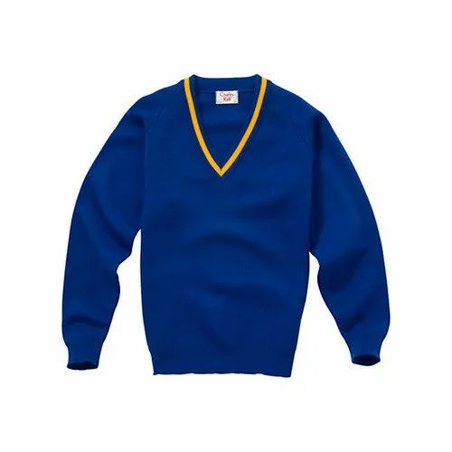 Gold Burg Cotton Boy' s School Uniform Sweater