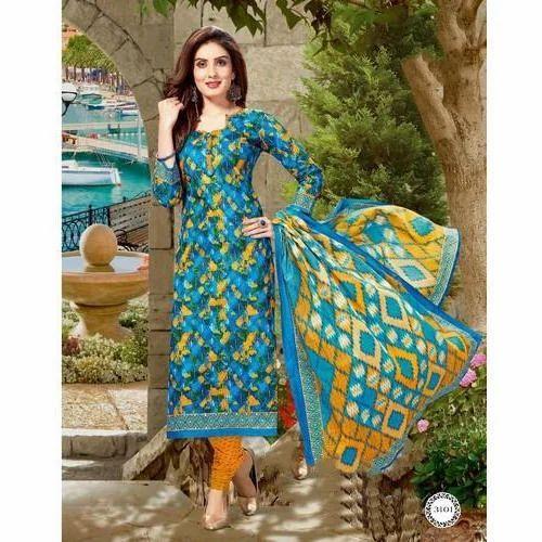 Printed Normal Salwar Ladies Unstitched Suit Material Rs 310