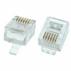 RJ 11 Connector, For PCB, 0.5 mm