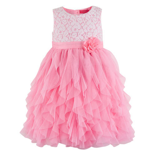 625784bb8888 2-3 To 6-7 Years Pink Girls Party Wear Frocks
