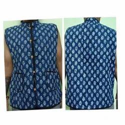 Casual Wear Unicsex Sleeveless Printed Jacket jaipuri, Packaging Type: Packet