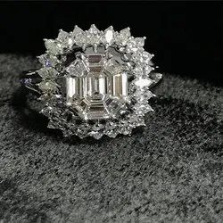 Piecut Diamond Ring