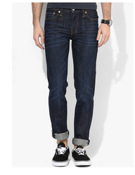 Blue Mid Rise Slim Fit Jeans