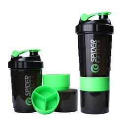 RANGOLI Green Protein Shaker Bottle, Capacity: 500ml