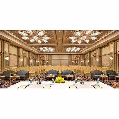 Banquet Hall Design: Waterproof Banquet Hall Gypsum False Ceiling, Rs 75