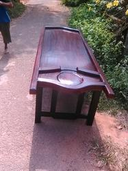 Wooden Dharapathi Droni Massage Table with stand