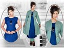 Rayon Kurti with Long Koti