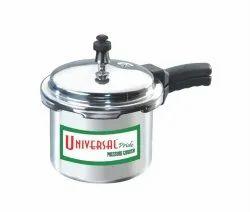Silver Aluminium Pressure Cooker for Home