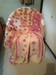 Lucknowi Work Off White Pinkish Georgette Handworked Saree
