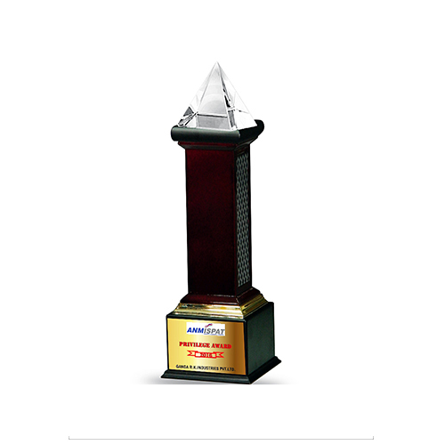 Foundation (pyramid) Wooden Trophy