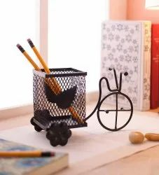 Black Decorative Pen Stand / Pencil Holder / Spoon Holder for Office Table