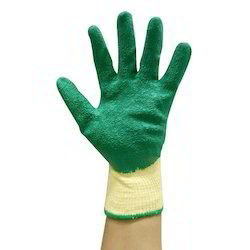 Marvel Poly Cotton Liner with Crinkled Latex Coated Gloves