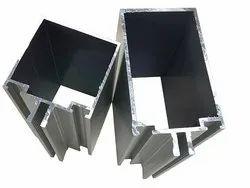 Aluminium Double Lip Curtaining Profile, For Curtain Fittings