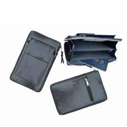 Teckcraft Couture Black Leather Passport Holder