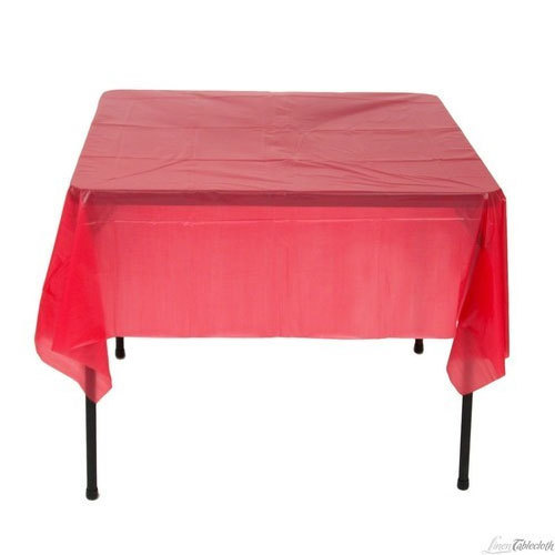 225 & Red Plastic Table Covers