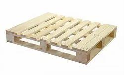 Rectangular pine Heat Treated Wooden Pallets, Capacity: 1 Tone