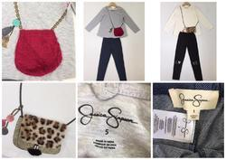 Girls Set with Stylish Fur Purse