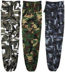 Male Polyester Camouflage Cargo Trousers