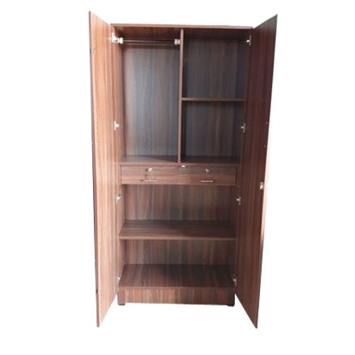Hinged Double Door Wooden Almirah for Home