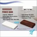 10000 mAh 3 Input Type C Power Bank Wooden Finish