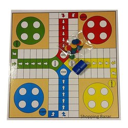 Multicolor Gloss Ludo Board, Number Of Players: 4, Small