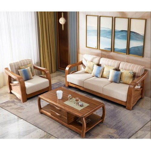 Modern Brown Living Room Wooden Sofa, Wooden Sofa Designs For Living Room