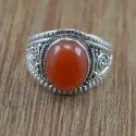Amazing 925 Sterling Silver Jewelry Pearl Gemstone Ring