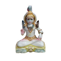 Polished Marble Shiva Statue
