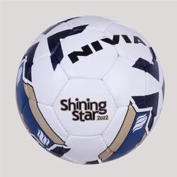 White And Blue Nivia Football, Size: 5