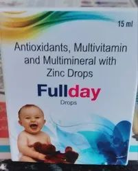 Fullday Antioxidants Multivitamin And Multimineral With Zinc Drops, Packaging Size: 15 Ml