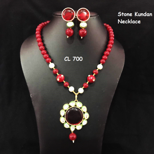Cl brand kundan onyx stone necklace and earrings set kundan cl brand kundan onyx stone necklace and earrings set mozeypictures Gallery