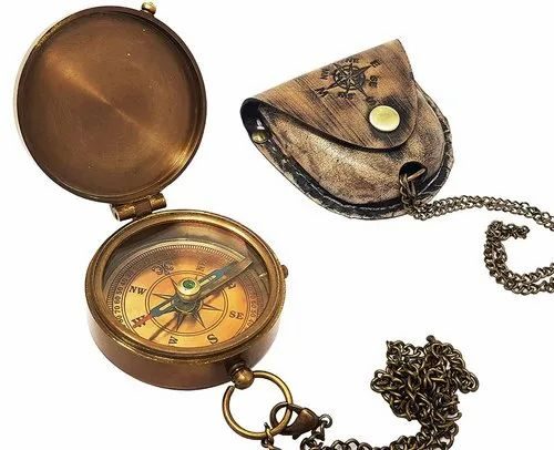 A NAUTICAL REPRODUCTION HOUSE Compass with Leather Case//Gift for Someone You Love//Husband//Boyfriend//to Him INDIA ROORKEE INSTRUMENTS